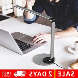 TaoTronics Aluminum Alloy Dimmable LED Desk Lamp with USB Ch