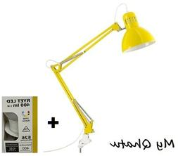 IKEA TERTIAL Yellow Clamp Table  Lamp Adjustable Desk Office