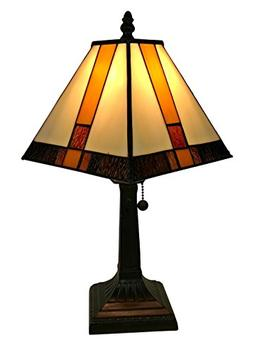Amora Lighting Tiffany Style AM208TL08 Mission Table Lamp 8