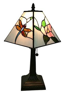 Amora Lighting Tiffany Style AM220TL08 Mission Dragonfly Tab