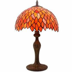 Tiffany Lamp Red Wisteria Style Table Desk Lamp Light 18 Inc