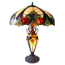 """Chloe Lighting Tiffany Roosevelt 25"""" H Table Lamp with Bowl"""