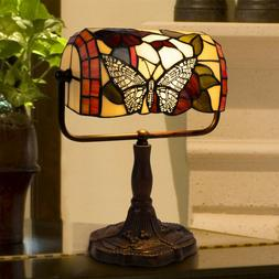 tiffany style bankers table desk lamp stained