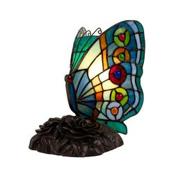 Tiffany Style Butterfly Table Desk Lamp Home Decor Lighting