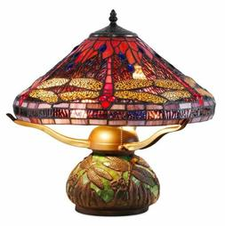 Tiffany Style Lamp Table Light Reading Stained Glass Vintage