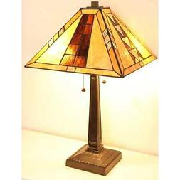 "Tiffany Style Mission Table Lamp 16"" Shade"