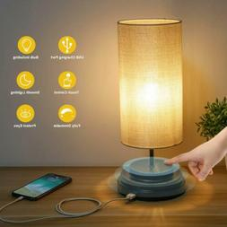 Touch Control Bedside LED Table Lamp Fully Dimmable USB Port