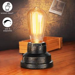 Touch Control Table Lamp Vintage Desk Small Industrial Light