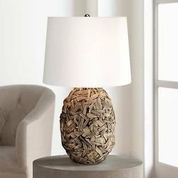 Tropical Table Lamp Natural Seagrass for Living Room Bedroom