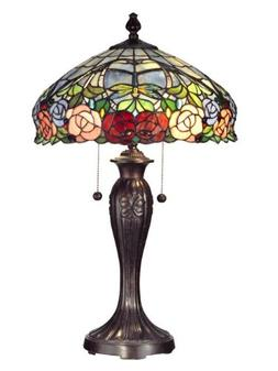 Dale Tiffany TT12232 Table Lamps Zenia Rose Lamps; Fieldston