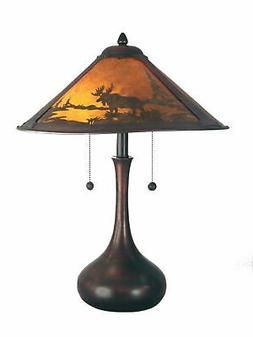 Dale Tiffany TT80484 Wilderness Table Lamp, Antique Bronze a