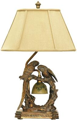 Dimond Lighting 91-507 Twin Parrots 2-Light Traditional Tabl