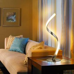 Twisted LED Table Lamp Modern Nightstand Touch Light Unique