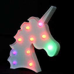 OYE HOYE Unicorn LED Lights Night Light Night Lamp Marquee S