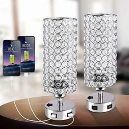 USB Crystal Touch Table Lamp with Press Switch,Stylish Night