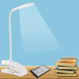 USB Rechargeable LED Dimmable Clip-On Desk Table Night Light
