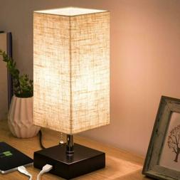 ZEEFO USB Table Lamp, 4.7*4.7*14 Inches Usb Port With Pull C