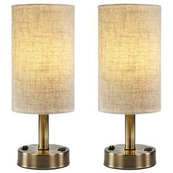 DEEPLITE USB Table Lamps for Bedroom, Bedside Nightstand Lam