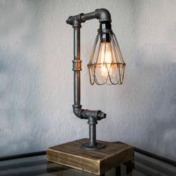 Industrial Retro Desk Table Lamp Steampunk Water Pipe Light