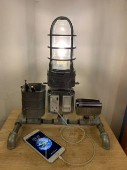 Vintage Industrial Table Lamp Steampunk Lamp Office Lamp USB