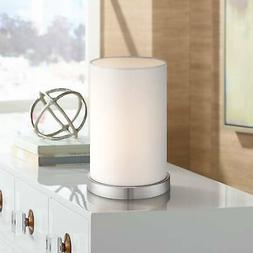 White Cylinder Accent Lamp