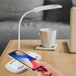 Wirless charger pad &LED USB Table Desk Lamp 2in1For iphon