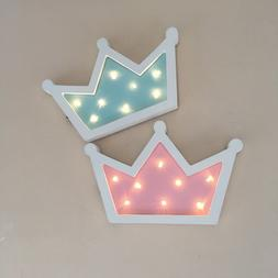 Wooden Crown Led Night Light Table Lamp Pendant Wall Hanging