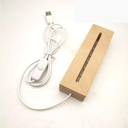 Wooden Led <font><b>lamp</b></font> base USB Cable switch Mo